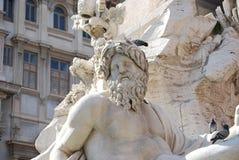 Рим, аркада Navona, фонтан от Bernini в Италии стоковые изображения