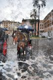 Рим в снеге в анормалной весне Стоковое Изображение