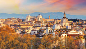 Рим - горизонт, Италия Стоковые Изображения