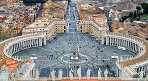 Рим, государство Ватикан, квадрат ` s St Peter Стоковая Фотография