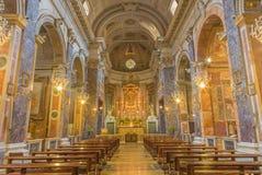 Рим - главная ступица барочных di Santa Maria Chiesa церков внутри через Стоковые Фотографии RF