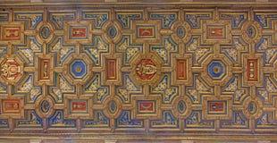Рим - деревянный потолок барочных di Santa Maria Chiesa церков в Transpontina Стоковая Фотография RF