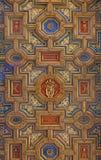Рим - деревянный потолок барочных di Santa Maria Chiesa церков в Transpontina Стоковое Фото