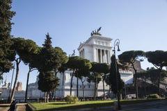 Рим, деталь викторианец увиденного от лестницы Arcoeli улицы Стоковое фото RF