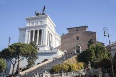 Рим, деталь викторианец увиденного от лестницы Arcoeli улицы Стоковая Фотография