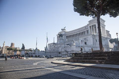 Рим, деталь викторианец увиденного от лестницы Arcoeli улицы Стоковые Изображения
