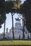 Рим, деталь викторианец увиденного от лестницы Arcoeli улицы Стоковые Фото