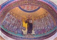 РИМ, ИТАЛИЯ, дворец Lateran: Мозаика Иисус и апостол Стоковая Фотография RF