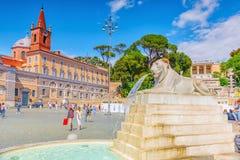 РИМ, ИТАЛИЯ - 08,2017 -ГО МАЙ: Одно из самого красивого римского squa Стоковые Изображения