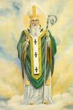 РИМ, ИТАЛИЯ, 2016: Картина St. Patrick в di Santa Maria Ausiliatrice базилики церков священником Salesian и a Стоковое фото RF