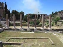 19 06 2017, Рим, Италия: Красивый вид руин известное римского Стоковые Фотографии RF