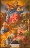 РИМ, ИТАЛИЯ - 9-ОЕ МАРТА 2016: Предположение девой марии мимо di Santa Maria del Popolo базилики Annibale Carracci стоковые фотографии rf