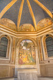 РИМ, ИТАЛИЯ - 9-ОЕ МАРТА 2016: Рождество фрески с St Jerome Bernardino Pinturicchio 1488 до 1490 Стоковое фото RF