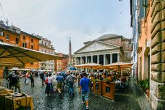 Рим, Италия - пантеон стоковое фото