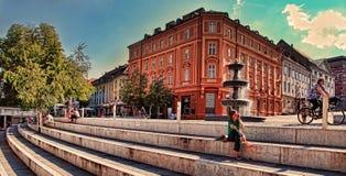 Рим, Италия - APRI 11, 2016: Взгляд от балкона natio Стоковые Фотографии RF