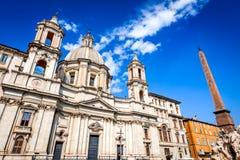 Рим, Италия, аркада Navona стоковое изображение