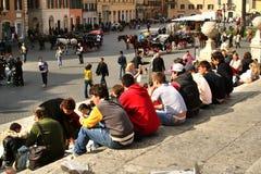 Рим, Италия, испанские лестницы, Стоковое Фото
