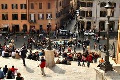 Рим, Италия, испанские лестницы, barcaccia della Фонтаны, стоковые фотографии rf