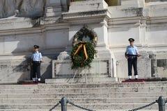 Рим Италия 18-ое июня 2016 Усыпальница неизвестного солдата на della Patria Altare Стоковые Изображения