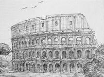 Рим, Италия Colosseum Стоковые Фото