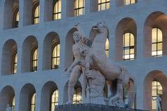 Рим, квадратное Colosseum Стоковая Фотография RF