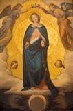 Рим - краска непорочного зачатия Филиппом Veit (1830) в dei Monti Trinita della Chiesa церков Стоковые Фотографии RF