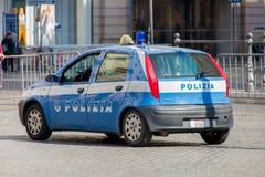 Рим - 21-ое марта 2014: Полицейская машина 21-ого марта внутри Стоковые Изображения RF