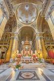 Рим - пресвитерий и куполок барочных di Santa Maria Chiesa церков в Transpontina Стоковое Фото