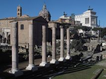 Рим римский форум стоковое изображение rf