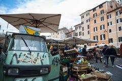 Рим, рынок Campo de 'Fiori Стоковые Фотографии RF