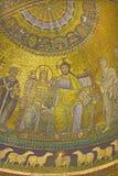 Рим - старое коронование мозаики девственницы от главной апсиды Santa Maria в церков Trastevere Стоковое Изображение