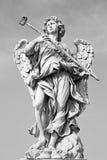 Рим - статуя ангела с губкой скульптором Антонио Giorgetti от моста Анджела Стоковое Изображение