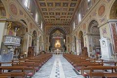 Рим - ступица в ренессанс-барочных di San Lorenzo Chiesa церков в Lucina Стоковое Изображение