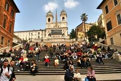 Рим, latium, Италия, испанские шаги, стоковое фото