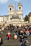 Рим, latium, Италия, испанские шаги, Стоковая Фотография RF