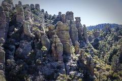 Риолит канон на национальном монументе Chiricahua Стоковые Изображения