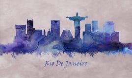 Рио-де-Жанейро Бразилия, горизонт бесплатная иллюстрация