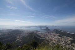 Рио-де-Жанейро увиденный от Corcovado Стоковое Изображение
