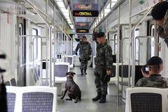 Рио держит анти- тренировку терроризма для Олимпийских Игр Рио 2016 Стоковые Изображения