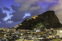 Рио-де-Жанейро к ноча Стоковые Фотографии RF