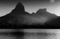 Рио-де-Жанейро на заходе солнца Стоковая Фотография RF