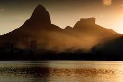 Рио-де-Жанейро на заходе солнца Стоковое Изображение RF