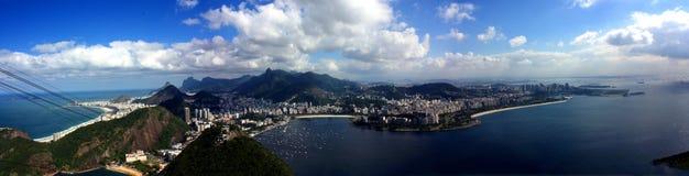 Рио-де-Жанейро, панорама Стоковые Изображения