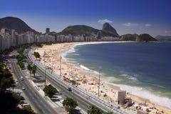 Рио-де-Жанейро - пляж Copacabana - Бразилия Стоковое Изображение RF
