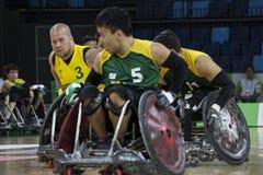 Рио 2016 - международный чемпионат рэгби кресло-коляскы Стоковые Изображения
