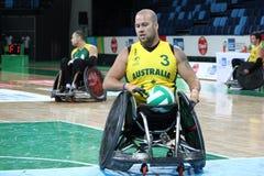 Рио 2016 - международный чемпионат рэгби кресло-коляскы Стоковое фото RF