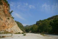 Рио Chillar, Nerja, Малага Стоковая Фотография