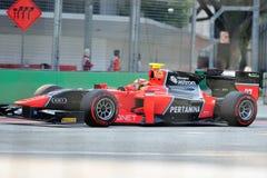 Рио Haryanto участвуя в гонке в Сингапур GP2 2012 Стоковые Изображения RF