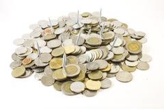 Рискованный высокий доход, винт в монетке Стоковые Изображения