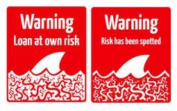 Риск займа Стоковые Изображения